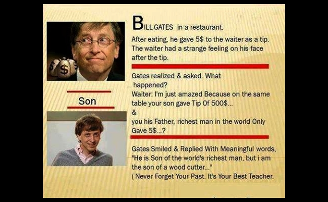 Never Forget - Bill Gates